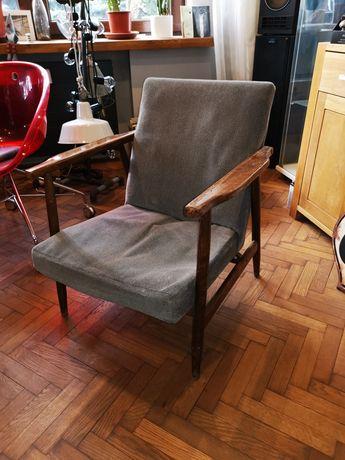 Fotel b7727 projekt H. Lis vintage loft prl polski design