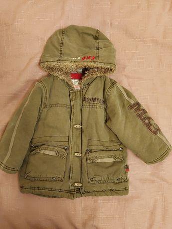 Детская куртка парка зимняя Topolino на 9-12 мес. 74 см