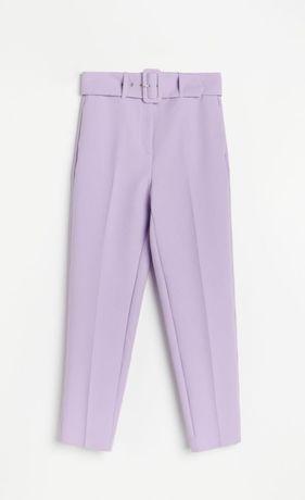 Spodnie damskie liliowe wrzosowe zara