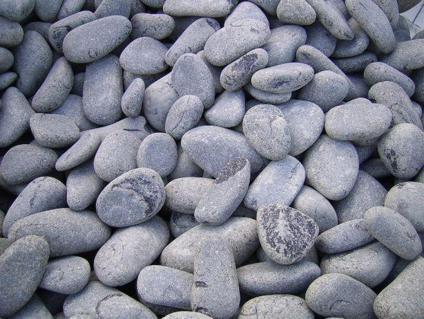 Pedra Decorativa Seixo Basalto Preto/Cinza escuro 209€/T