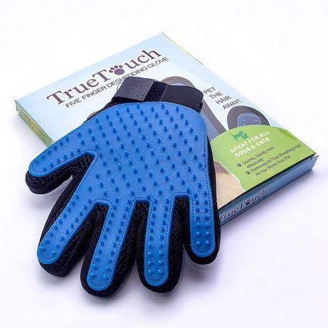 Перчатка антишерсть True Touch для вычесывания шерсти животных