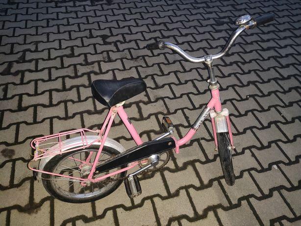 """Rowerek dziewczęcy różowy koła 16"""""""