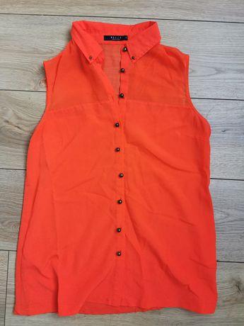 Bluzka pomarańczowa neon 38 M Mohito