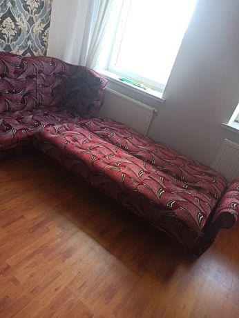 Великий розкладний диван ліжко кутовий і два крісла