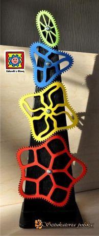 KRZYWE ZĘBATKI drewniana zabawka edukacyjna