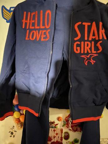 Спортивный костюм, брючный на 7-8 лет, новый для девочки