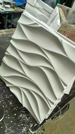 Гипсовая декоративная плитка и 3D панели