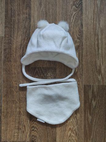 Зимняя шапка комплект зимний ангора