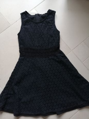 Sukienka czarna elegancka, komers, wesele, z koronki