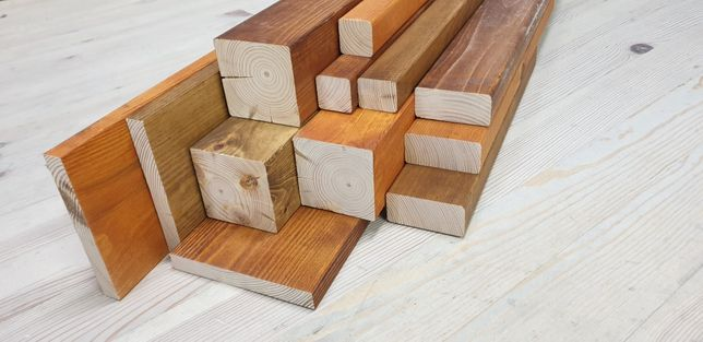 Impregnowane olejowane deski drewno legary kantówki malowane