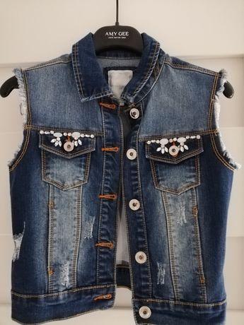Bezrękawnik jeansowy Silvian Heach