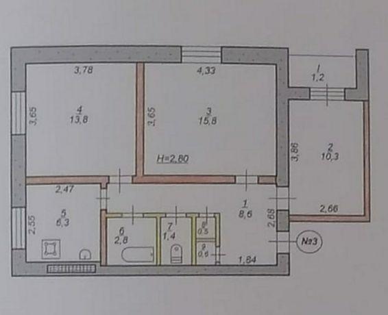 Квартира 3х комнатная район Соцгорода