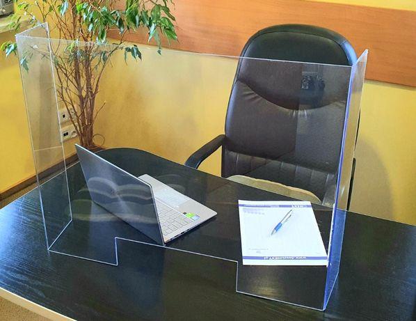 Osłona na biurko ladę osłony bhp antywirusowa BHP