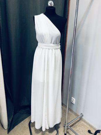 Sukienka ślub wesele boho zwiewna muślinowa wielofunkcyjna biała
