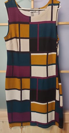 Fajna dzianinowa sukienka Qiosque jesień 42