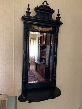 Хрустальное зеркало , антиквариатная мебель