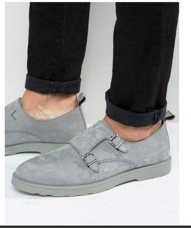 Добротные кожаные туфли ASOS 43-44 немного большемерят