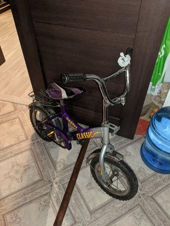"""Велосипед 16"""" с дополнительными колесиками"""