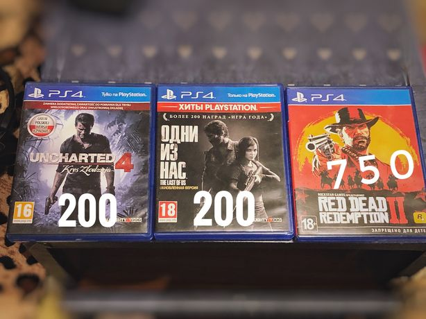 Игры на PS 4: Unchurted 4 , The Last of Us, RDR2