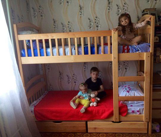 Двухъярусная кровать Карина от производителя супер цена Ящики+матрас