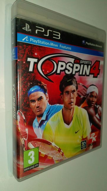 Gra PS3 Top Spin 4 IV Topspin Tenis gry PlayStation 3 move Edition
