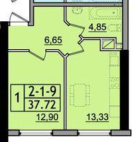 Продам 1-комнатную квартиру в новом доме на Сахарова