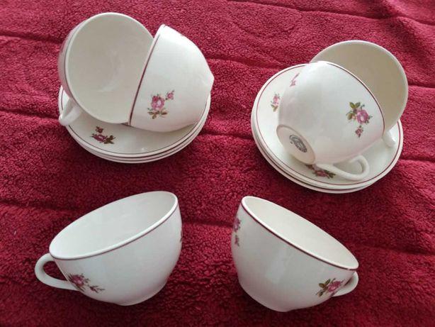 Loiça de Sacavém 6 Chávenas de Chá e Pires - Antigas
