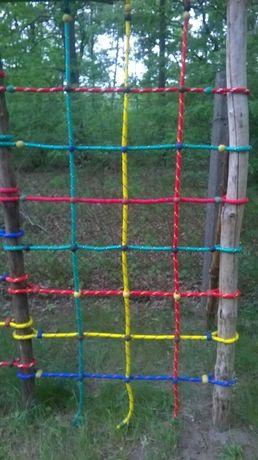 2 * 2 m lina 14 mm siatka do wspinaczki małpi gaj plac zabaw