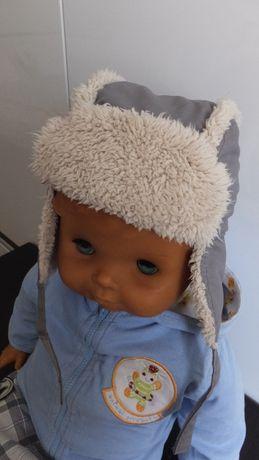 зимняя шапка ушанка Next на 1-2 года