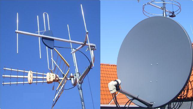 Montaż anten, serwis instalacji antenowych satelitarnych i naziemnych.