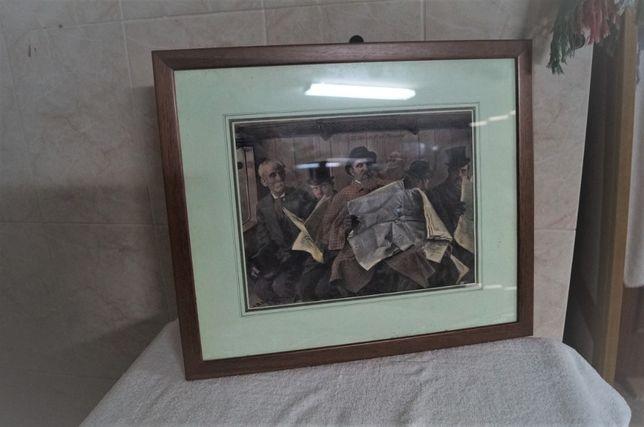 Quadro Decorativo com Moldura em Castanho escuro (49x42)