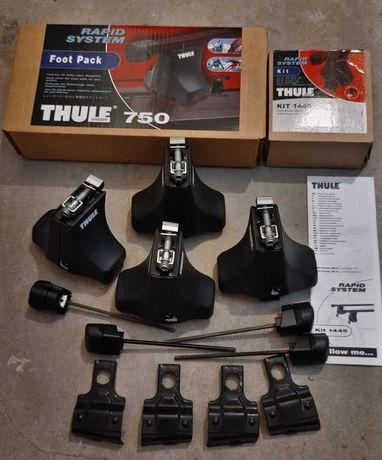 Bases de barras de tejadilho Thule 750 + kit 1445 Rapid System