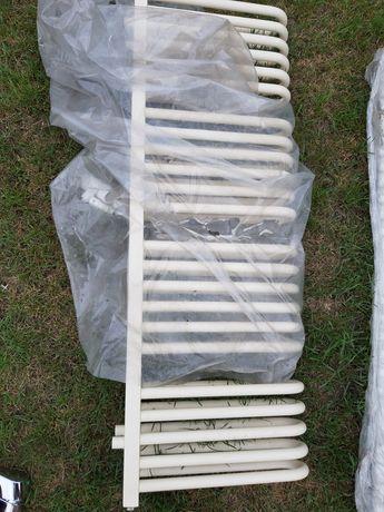 Grzejnik ecru 117x40 cm podwójny zaokrąglony