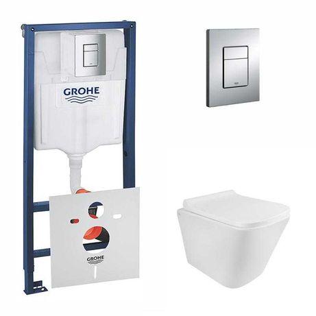 Комплект: Grohe Rapid SL 38772001 4в1+Qtap Tern унитаз подвесной