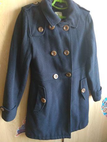 Пальто кашемировое на девочку 128-134 рост