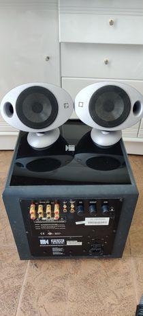 Sistema de som KEF 5.1 + amplificador Yamaha