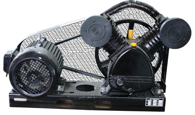 Sprężarka Pompa powietrza kompresor +Silnik Zestaw 2 Tłoki 90mm 860l/m