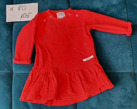 Czerwona sukienka rozmiar 80