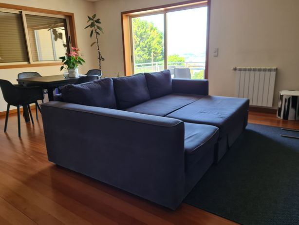 Sofá cama de 3 lugares com chaise