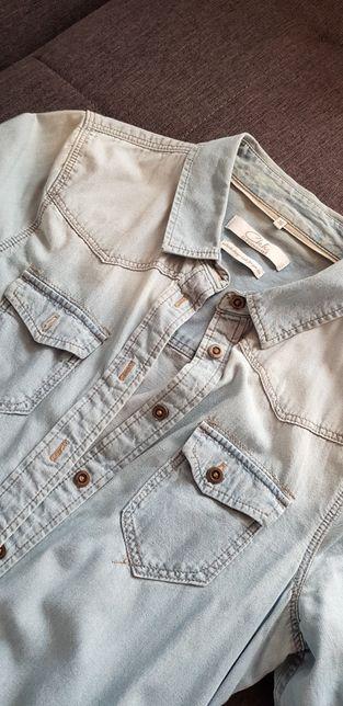 Cieniowana koszula jeansowa C&A baby blue