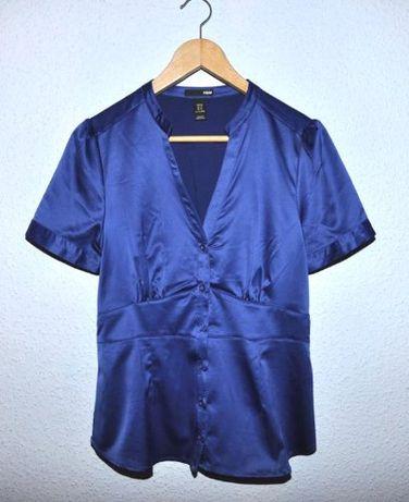 H&M - blue - BLUZECZKA krótki rękaw BDB 38/40