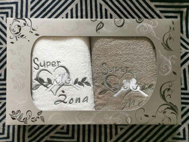 NOWY komplet ręczników ręczniki ręcznik super żona mąż ślub rocznica