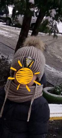 шапка хомут рукавиці
