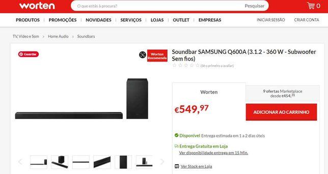 Soundbar Samsung - Q600A 360W 3.1.2 2021