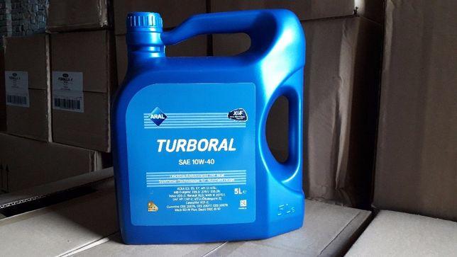 Масло моторное полусинтетическое Aral Turboral SAE 10W-40 (5 литров).
