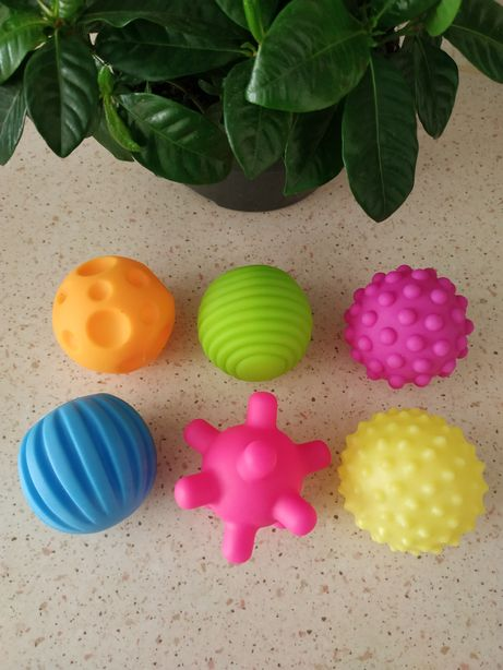 Игрушки для ванной, тактильные, сенсорные мячики, мячики с пищалками