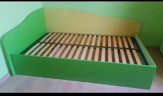 Срочно ! Кровать ліжко 120/200 односпальная зеленая