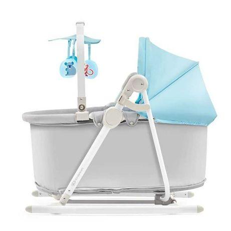Kinderkraft, Unimo, leżaczek, bujaczek, krzesełko 5w1, błękitny
