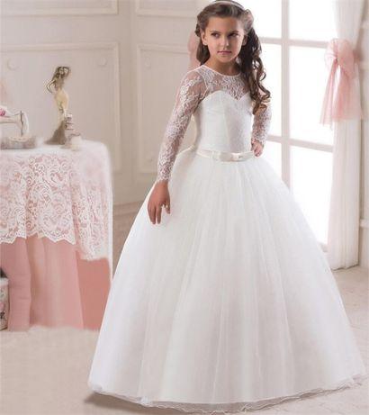 Длинное нарядное платье Кружево