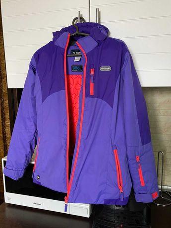 Лыжный костюм brugi фиолетовая куртка черный полукомбинезон